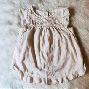 ▪️Gap Kid's Girls Cream Stitched Blouse 4T